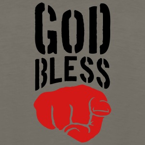 God bless you finger show hand funny god jesus log T-Shirts - Men's Premium Long Sleeve T-Shirt