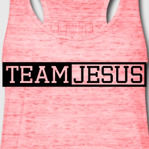 Button text letter cross symbol team crew friends  T-Shirts - Women's Flowy Tank Top by Bella