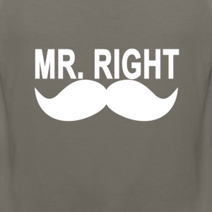 mr_right_mustache_ - Men's Premium Tank