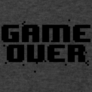 GAME OVER RETRO PIXEL CAP - Men's V-Neck T-Shirt by Canvas