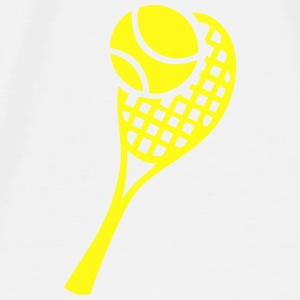 Tennis Racket and Ball Baby Bodysuits - Men's Premium T-Shirt