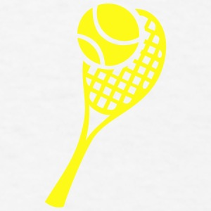 Tennis Racket and Ball Accessories - Men's T-Shirt