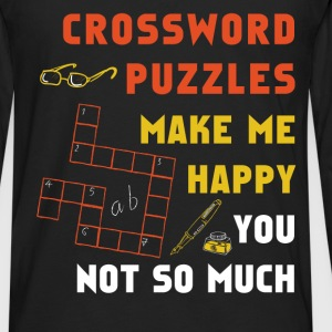 Crossword puzzles - Crossword puzzles make me happ - Men's Premium Long Sleeve T-Shirt