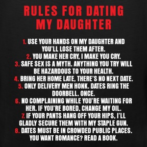 Dating - Rules For Dating My Daughter - Men's Premium Tank