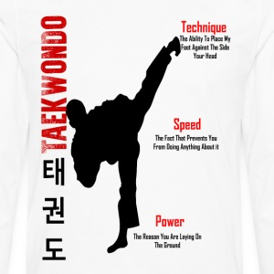 taekwondo kick t shirt - Men's Premium Long Sleeve T-Shirt