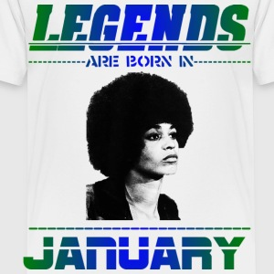 Legends are Born in January Kids' Shirts - Toddler Premium T-Shirt