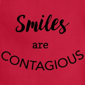 Smiles are contagious T-Shirts - Adjustable Apron