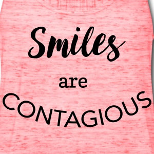 Smiles are contagious T-Shirts - Women's Flowy Tank Top by Bella
