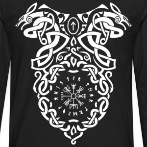 Vikings Vegvisir Knot T-Shirts - Men's Premium Long Sleeve T-Shirt