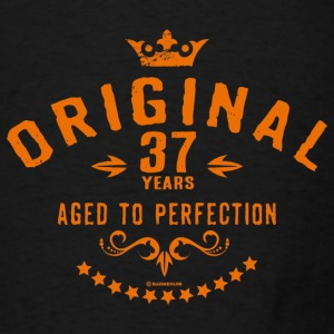 Original 37 years aged to perfection - RAHMENLOS birthday gift Aprons - Men's T-Shirt