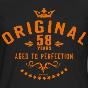 Original 58 years aged to perfection - RAHMENLOS birthday gift T-Shirts - Men's Premium Long Sleeve T-Shirt