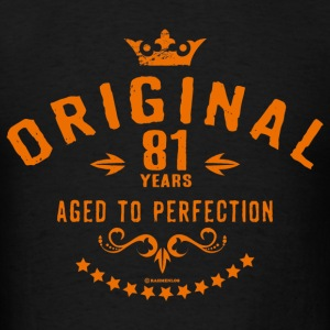 Original 81 years aged to perfection - RAHMENLOS birthday gift Hoodies - Men's T-Shirt