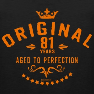 Original 81 years aged to perfection - RAHMENLOS birthday gift Hoodies - Men's Premium Tank