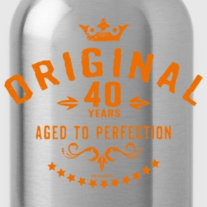 Original 40 years aged to perfection - RAHMENLOS birthday gift Hoodies - Water Bottle