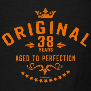 Original 38 years aged to perfection - RAHMENLOS birthday gift Aprons - Men's T-Shirt