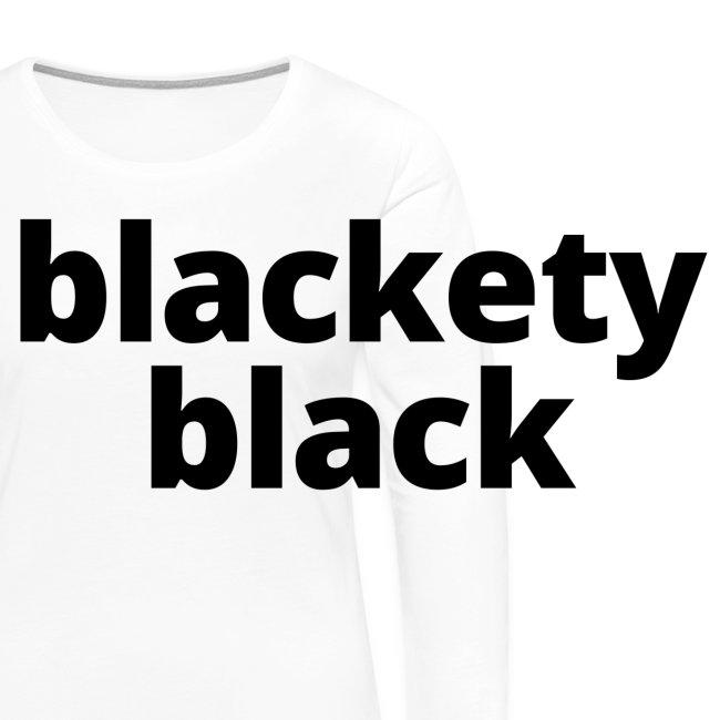 Women's Blackety Black T-Shirt