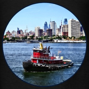 Philadelphia PA - Tugboat by Philadelphia Skyline Hoodies - Men's T-Shirt