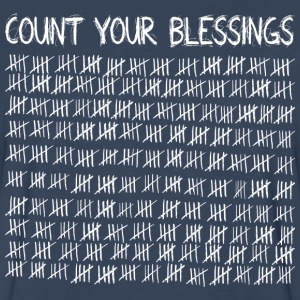 Count Your Blessings (dark) T-Shirts - Men's Premium Long Sleeve T-Shirt