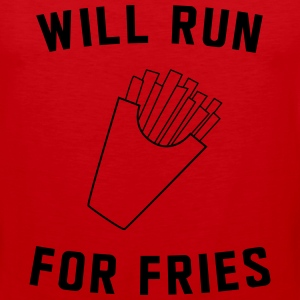 Will run for fries T-Shirts - Men's Premium Tank