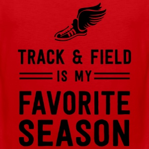 Track and field is my favorite season T-Shirts - Men's Premium Tank
