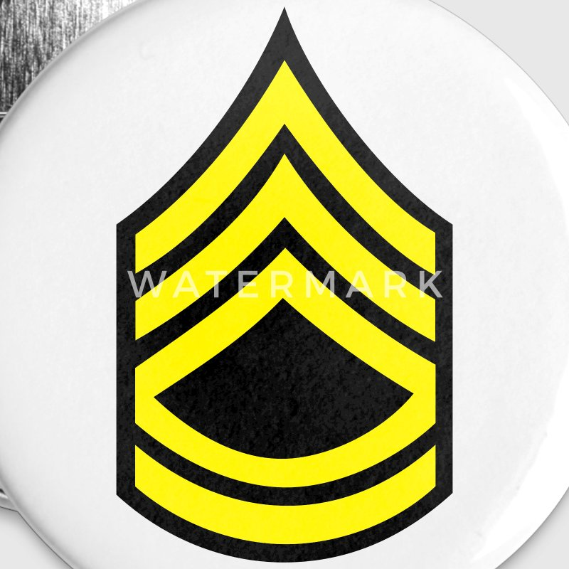 army military button rank SERGEANT FIRST CLASS - Small Buttons