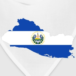 El Salvador Map Flag - Bandana