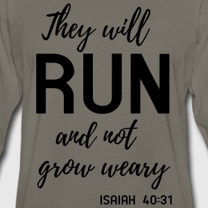 They will run and not grow weary T-Shirts - Men's Premium Long Sleeve T-Shirt