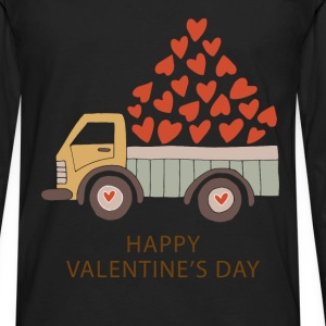 Truckload of Love - Happy Valentine's Day - Men's Premium Long Sleeve T-Shirt