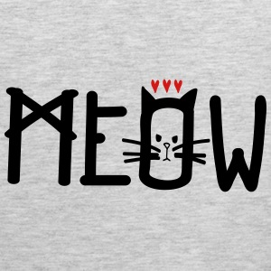 MEOW Women's V-Neck Tri-Blend T-Shirt - Men's Premium Tank