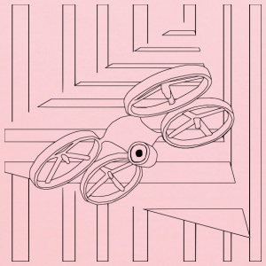 Quad Drone Coloring for Grown Ups - Kids' Hoodie