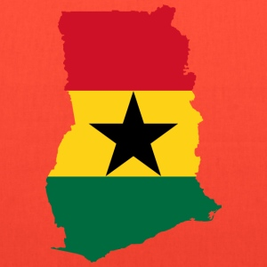Ghana Flag Map - Tote Bag