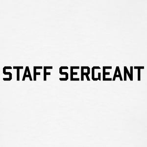 STAFF SERGEANT button army rank badge  - Men's T-Shirt