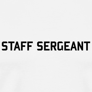 STAFF SERGEANT button army rank badge  - Men's Premium T-Shirt