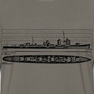 Asashio Battleship - Men's Premium Long Sleeve T-Shirt