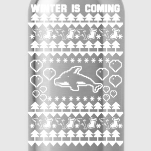Dolphin Lover - Ugly Christmas Sweater - Water Bottle