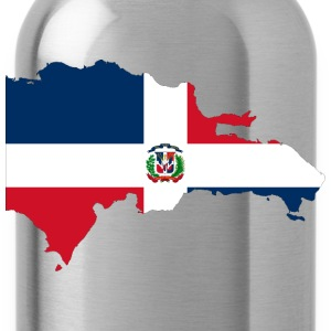 Dominican Republic Map Flag - Water Bottle