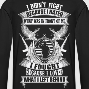 Military because I loved what I left behind - Men's Premium Long Sleeve T-Shirt