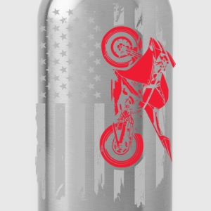 Sportbike flag - Biker Amarican - Water Bottle
