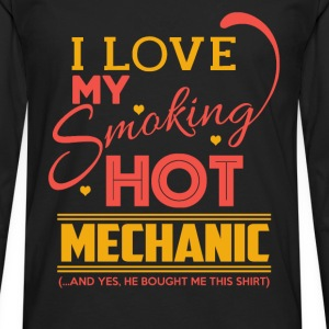 Mechanic - My smoking hot mechanic - Men's Premium Long Sleeve T-Shirt