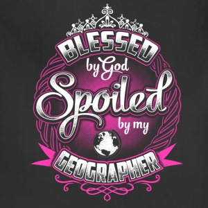Geographer-Blessed by God spoiled by my geograph - Adjustable Apron