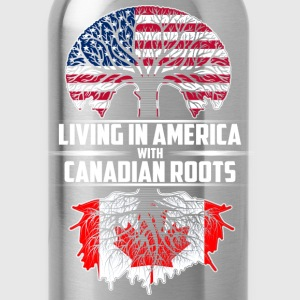 Living in america with canadian roots - Water Bottle