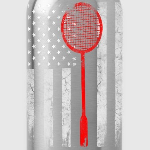 USA Badminton lovers - Badminton Flag - Water Bottle