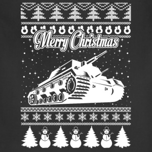 Army Tank Ugly Christmas Sweater - Adjustable Apron