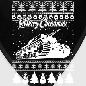 Army Tank Ugly Christmas Sweater - Bandana