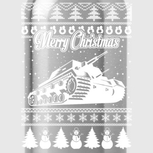 Army Tank Ugly Christmas Sweater - Water Bottle