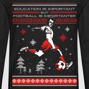 Football - Ugly Christmas Sweater - Men's Premium Long Sleeve T-Shirt