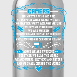 Gamers - Gamers together we rule the world - Water Bottle