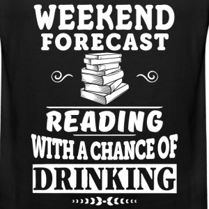 Books Reading with a chance of Drinking - Men's Premium Tank