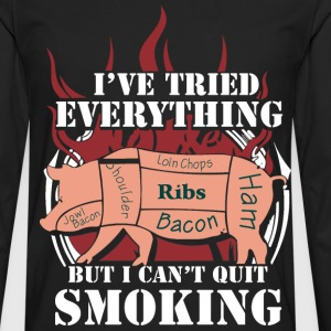 Bacon - I've tried everything to quit smoking - Men's Premium Long Sleeve T-Shirt