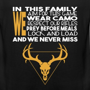 Hunting - In this family we aim for this game - Men's Premium Tank